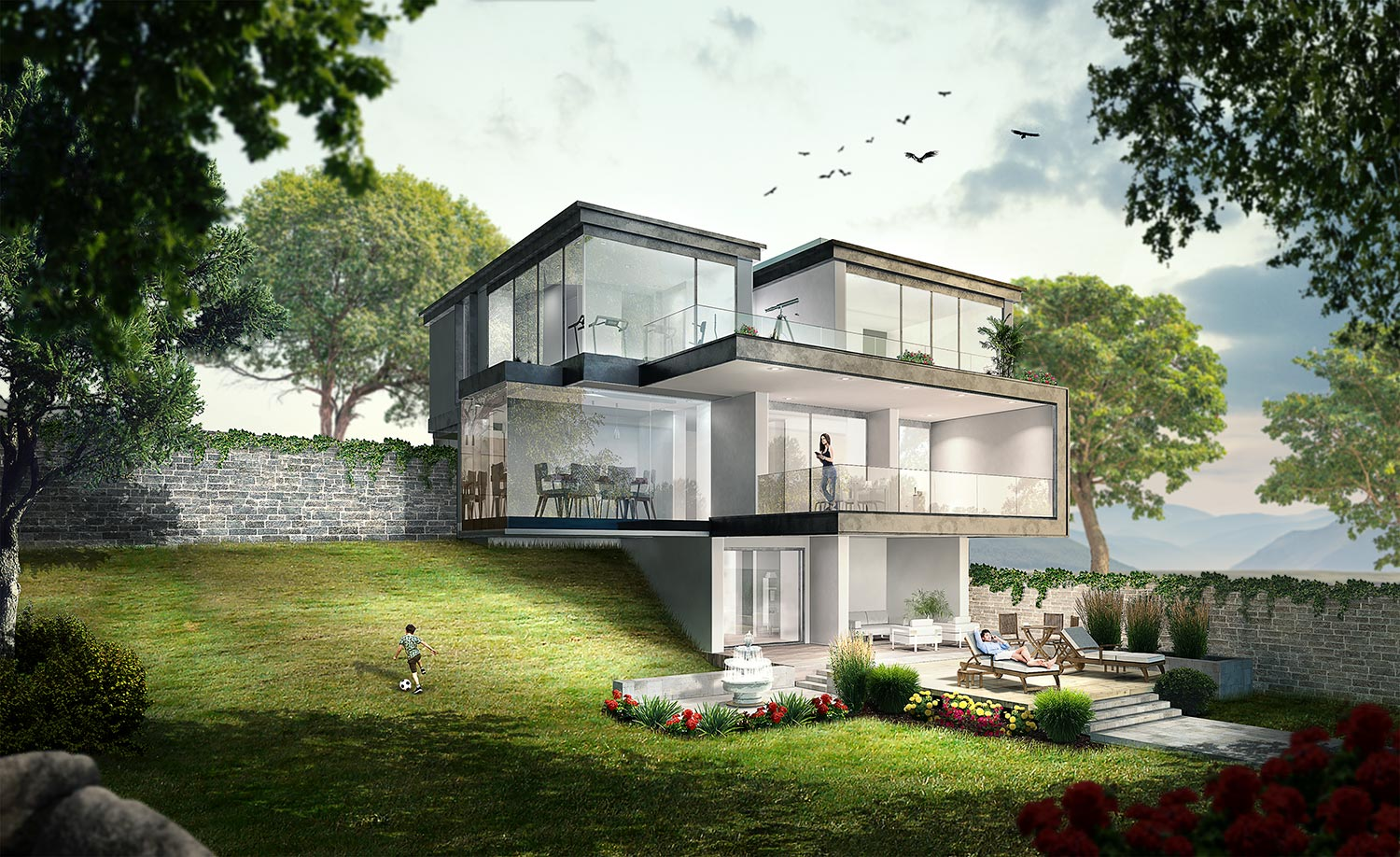 Architectural Visualization People Integration