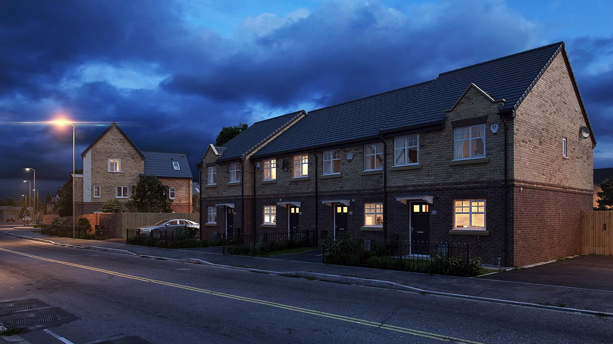 Residential Architectural Rendering Night