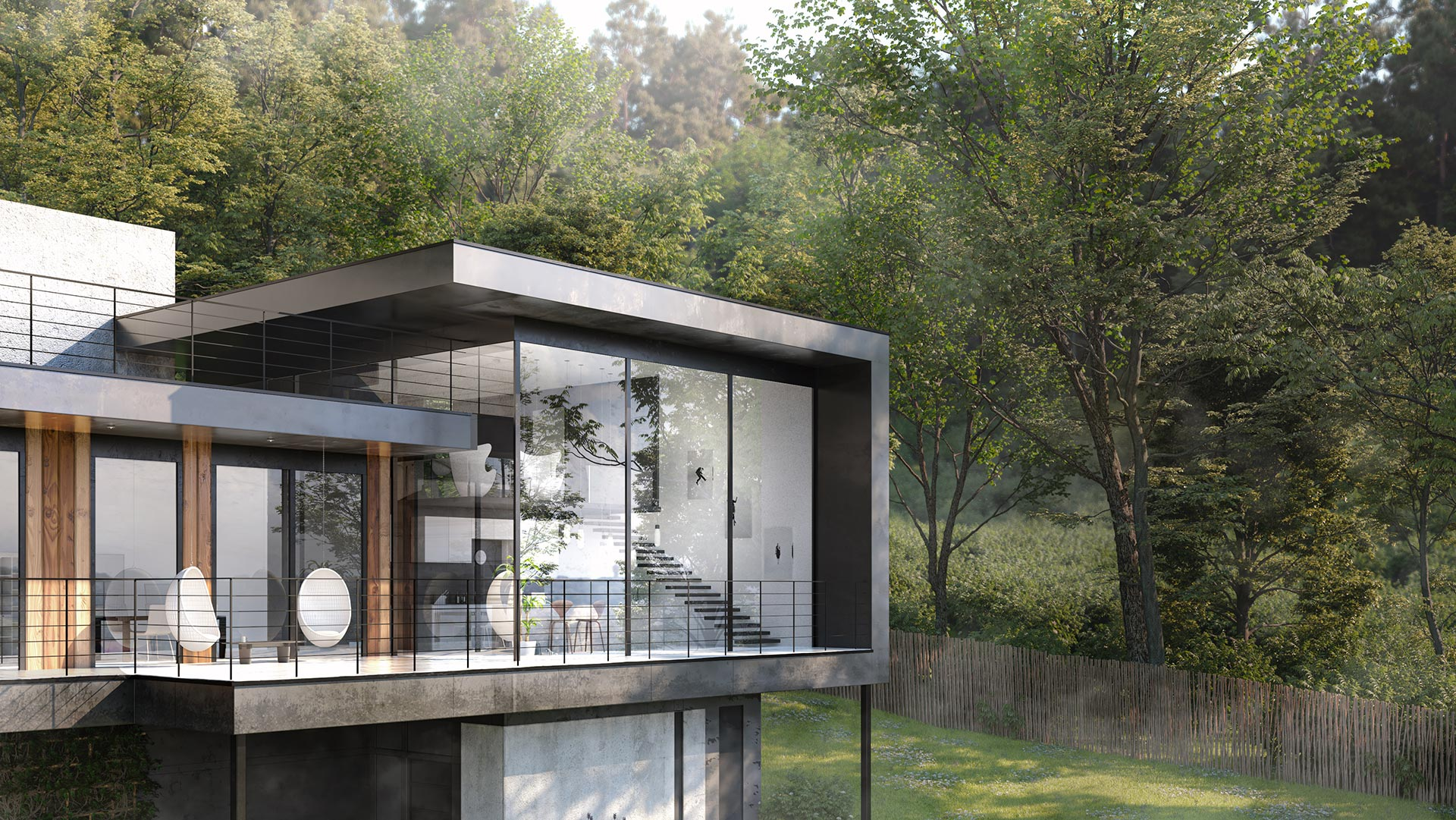Close Up Architectural Render Penthouse