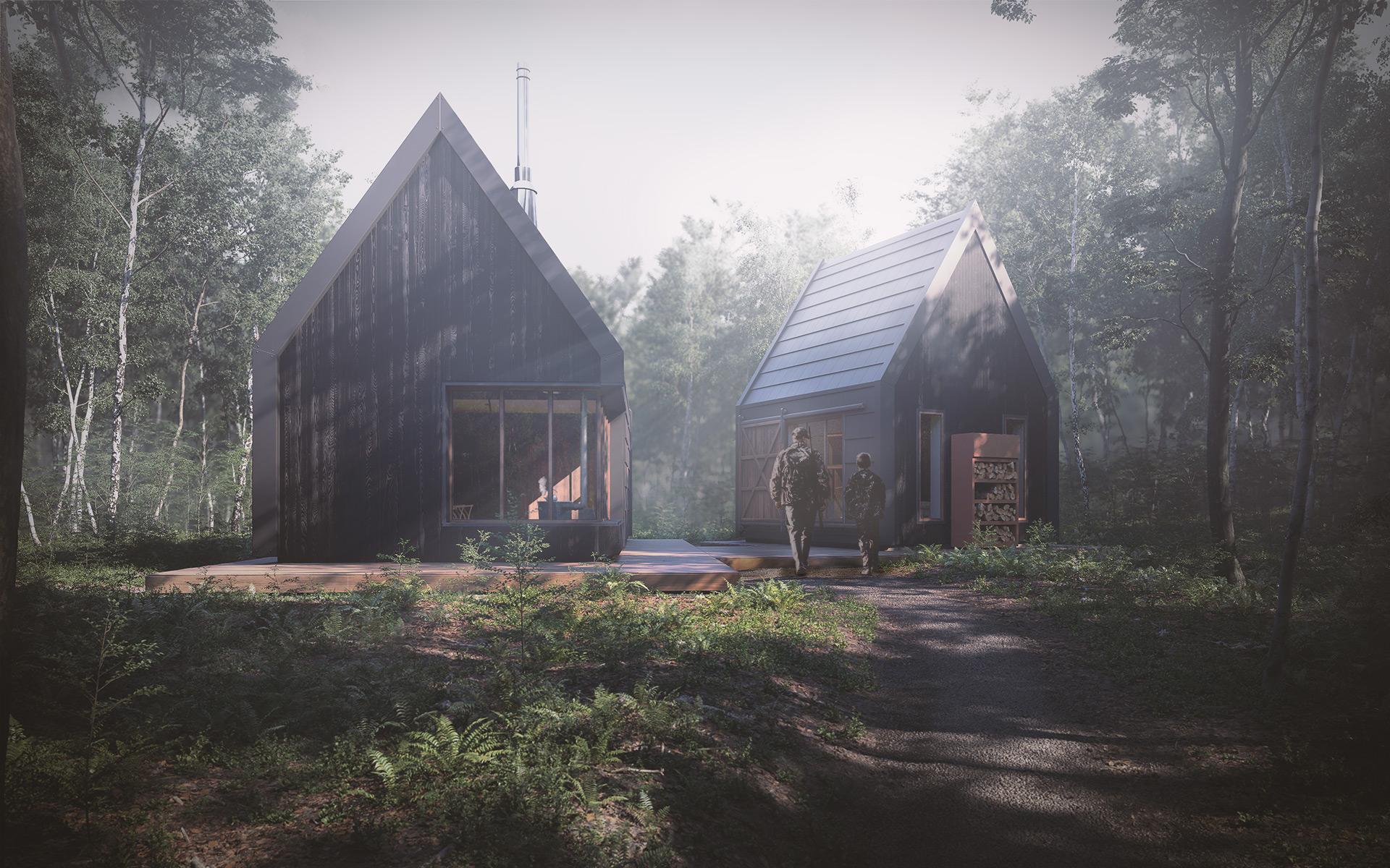 Forest Cabin Architectural Visualization