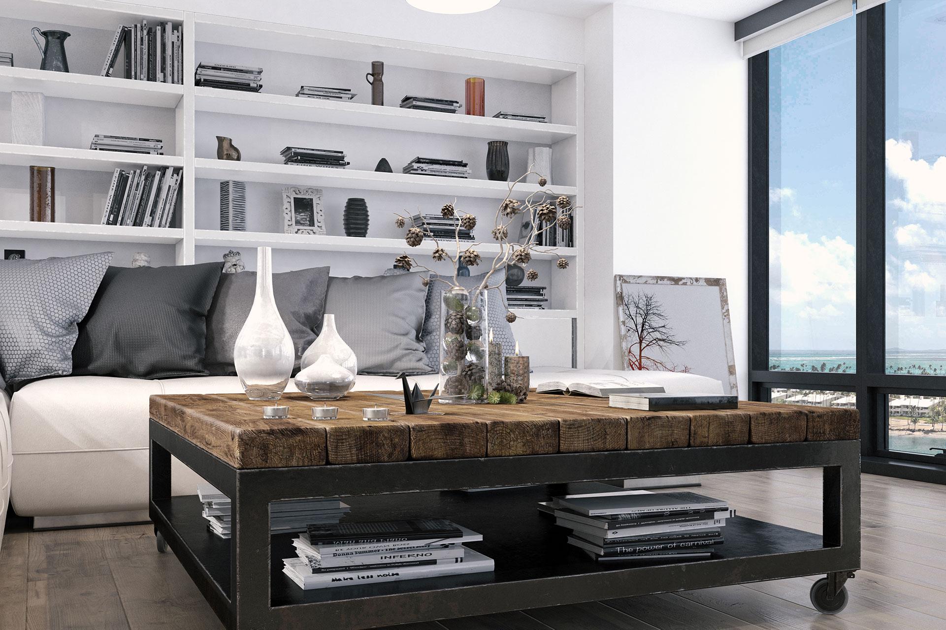 Focused Interior render of an apartment