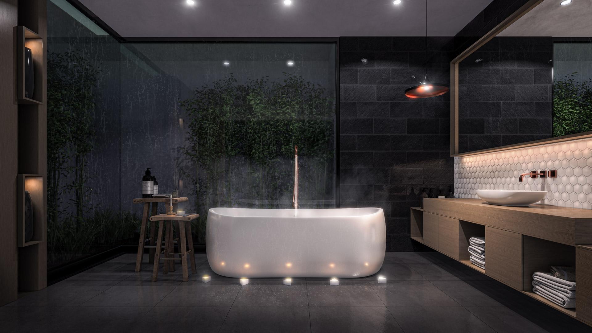 Bathroom Light Study Night