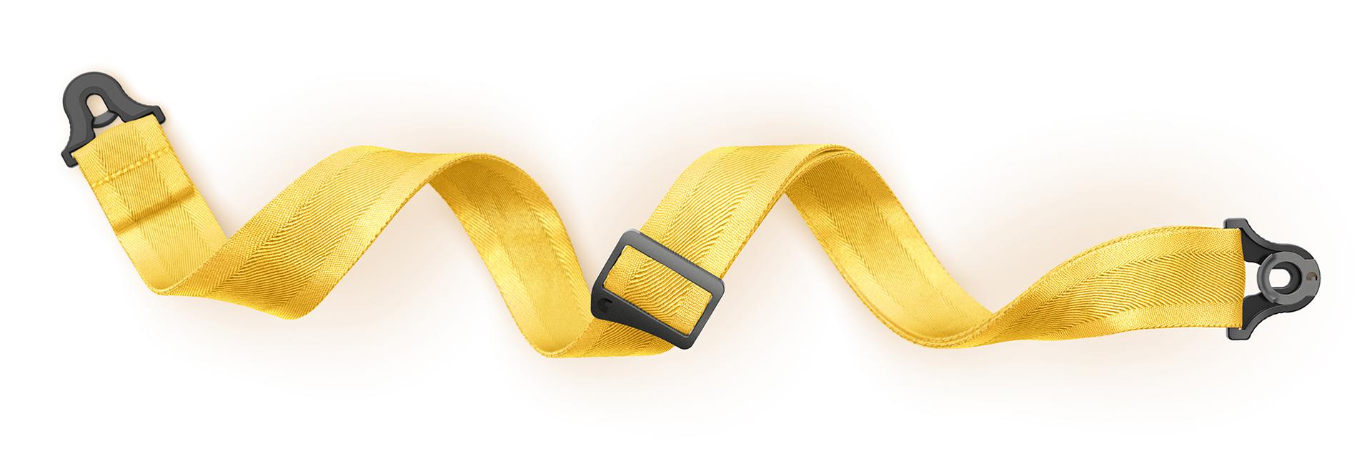 D'Addario Guitar Strap Lock Yellow Product Render