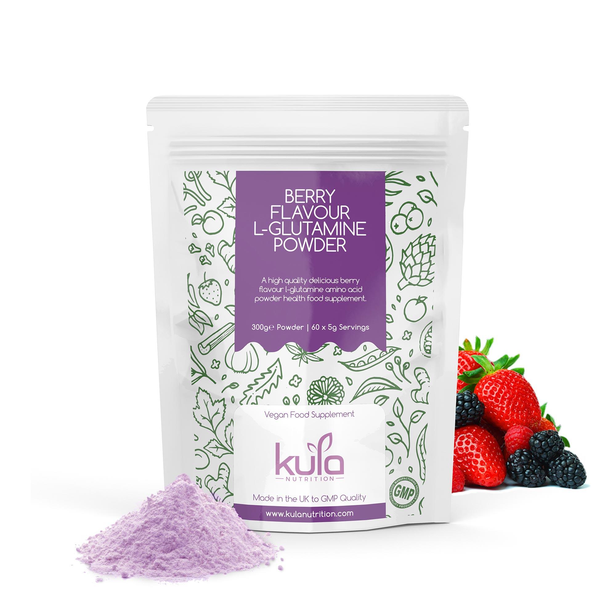Berry Flavour L-Glutamine Powder Concept 1