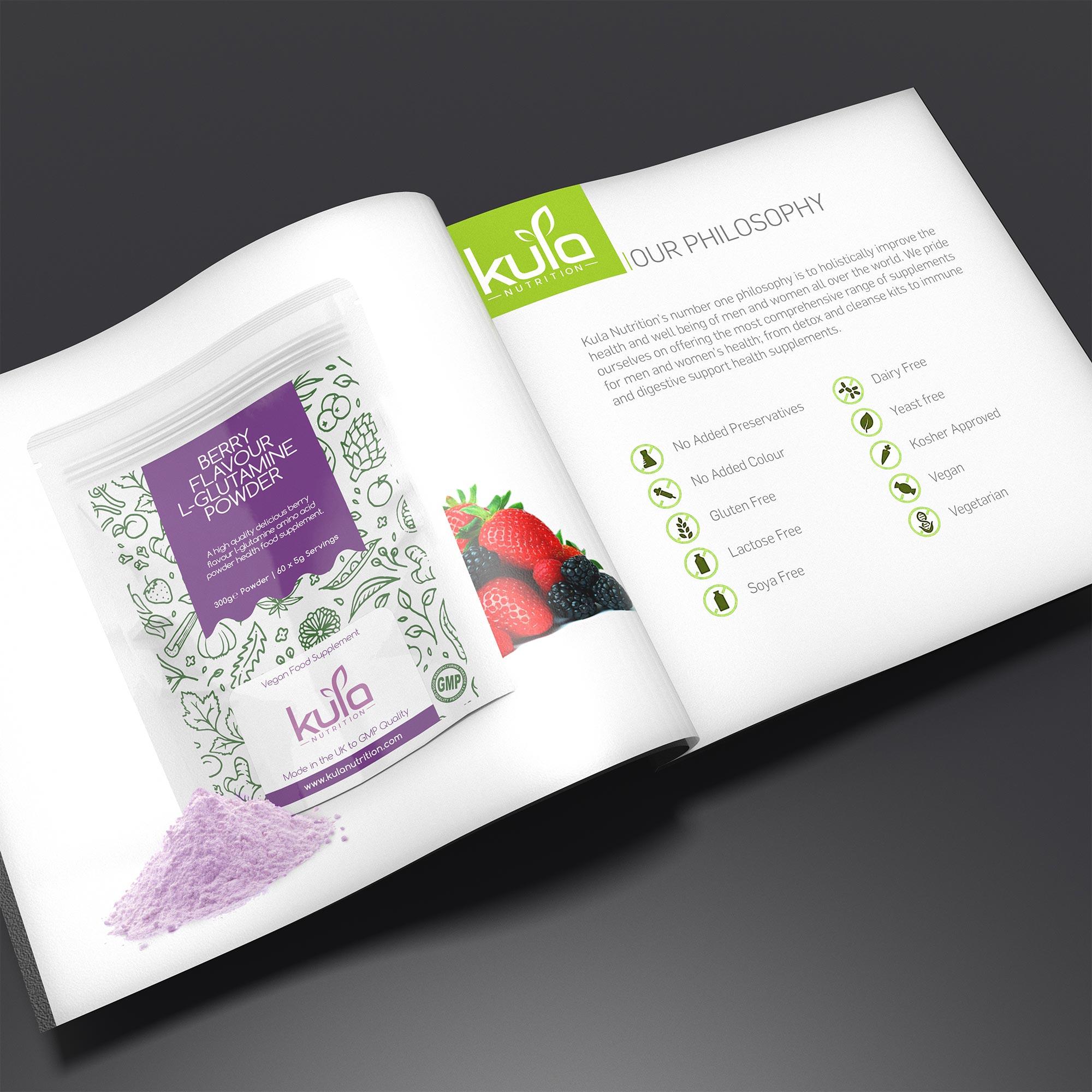 Berry Flavour L-Glutamine Powder Concept 4