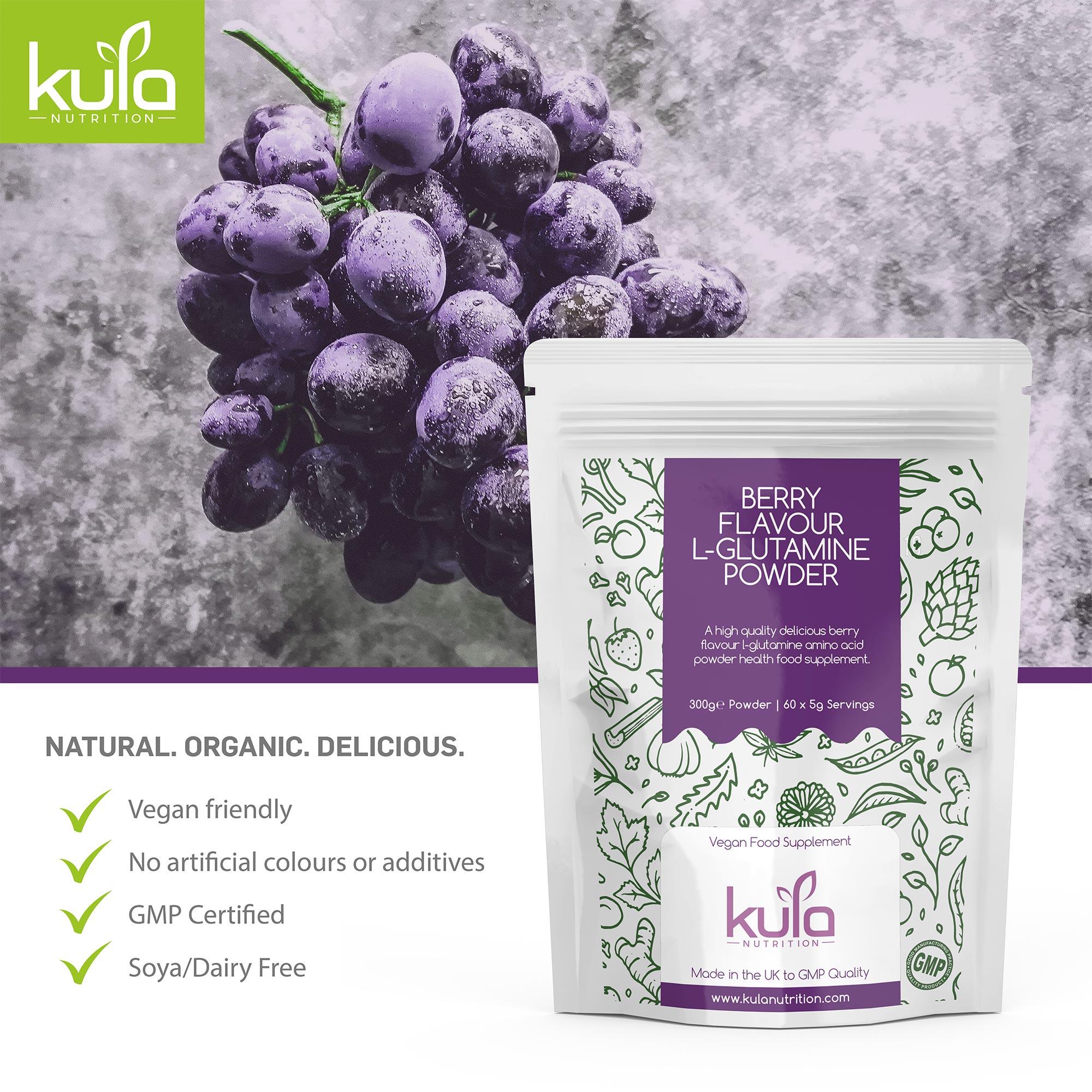 Berry Flavour L-Glutamine Powder Concept 6