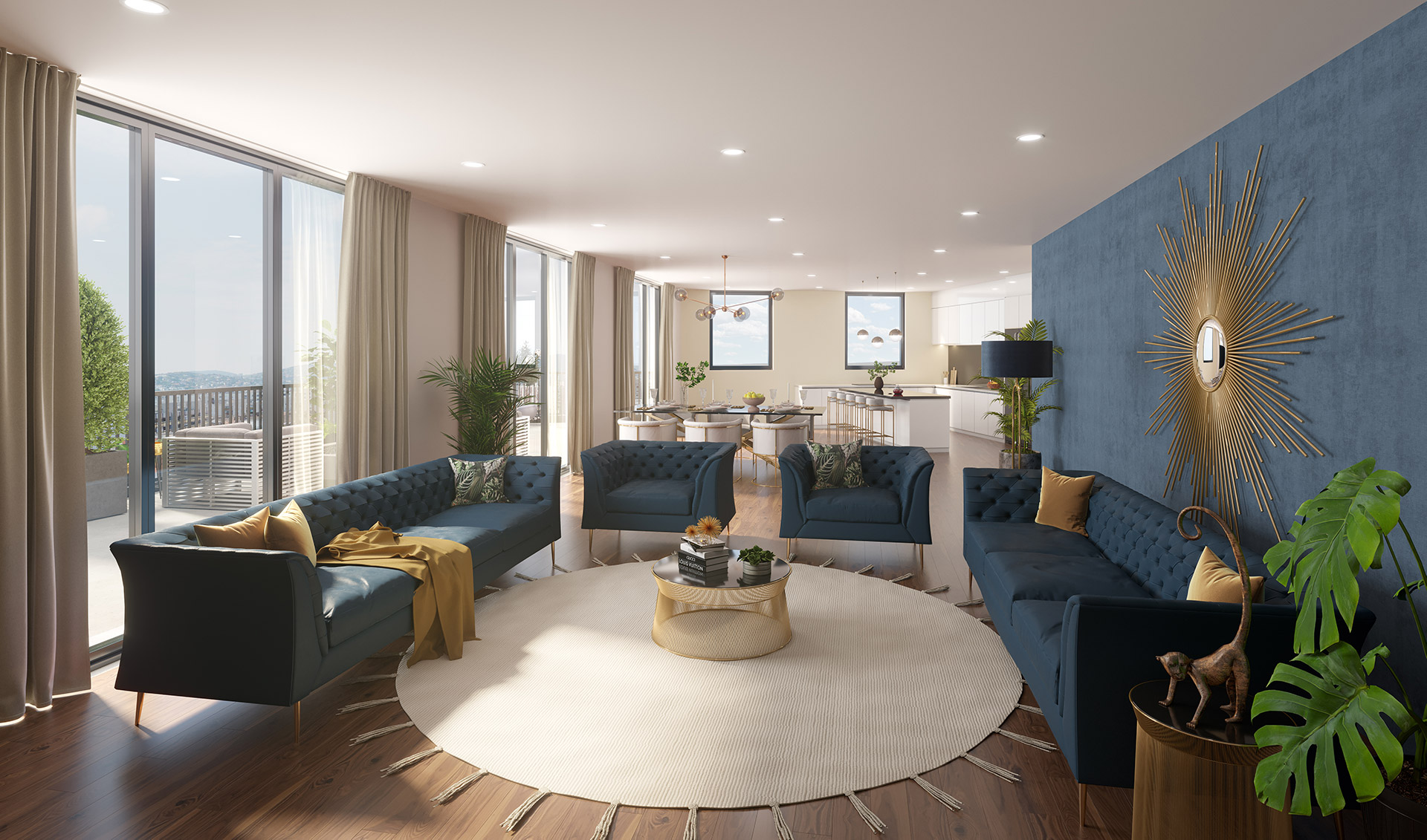 Chigwell Penthouse Interior Render