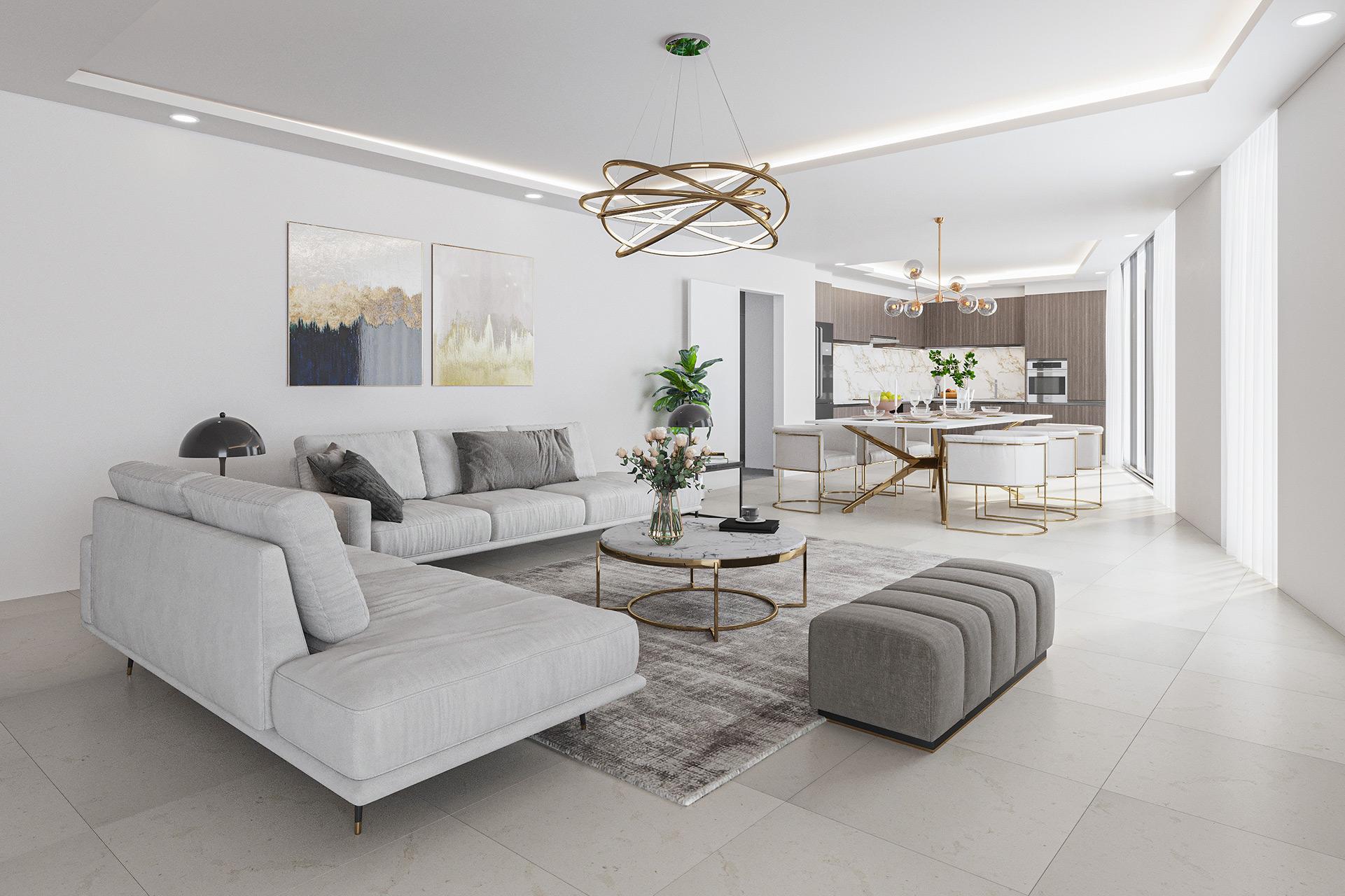 Interior Penthouse Rendering