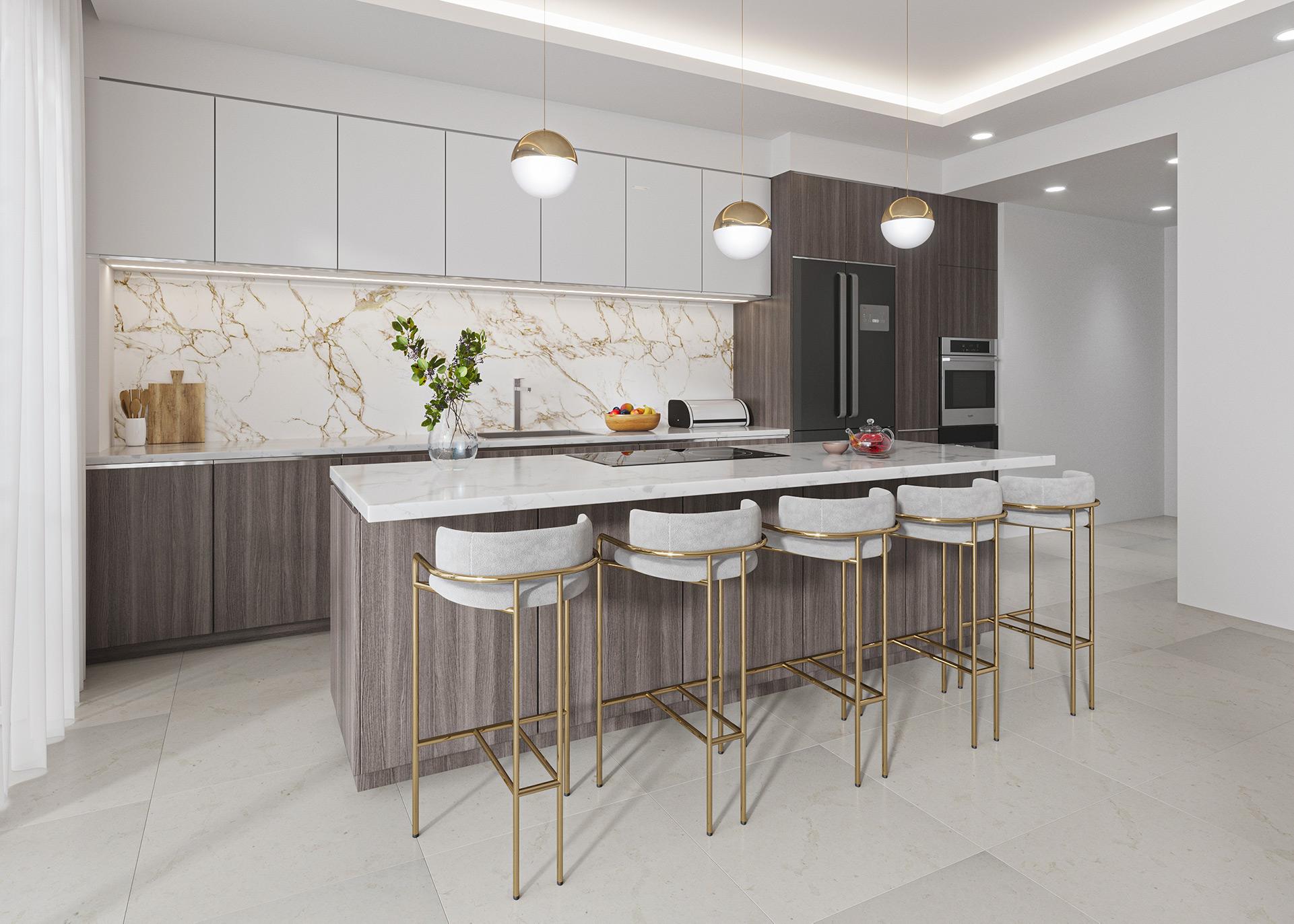 Kitchen Interior Render