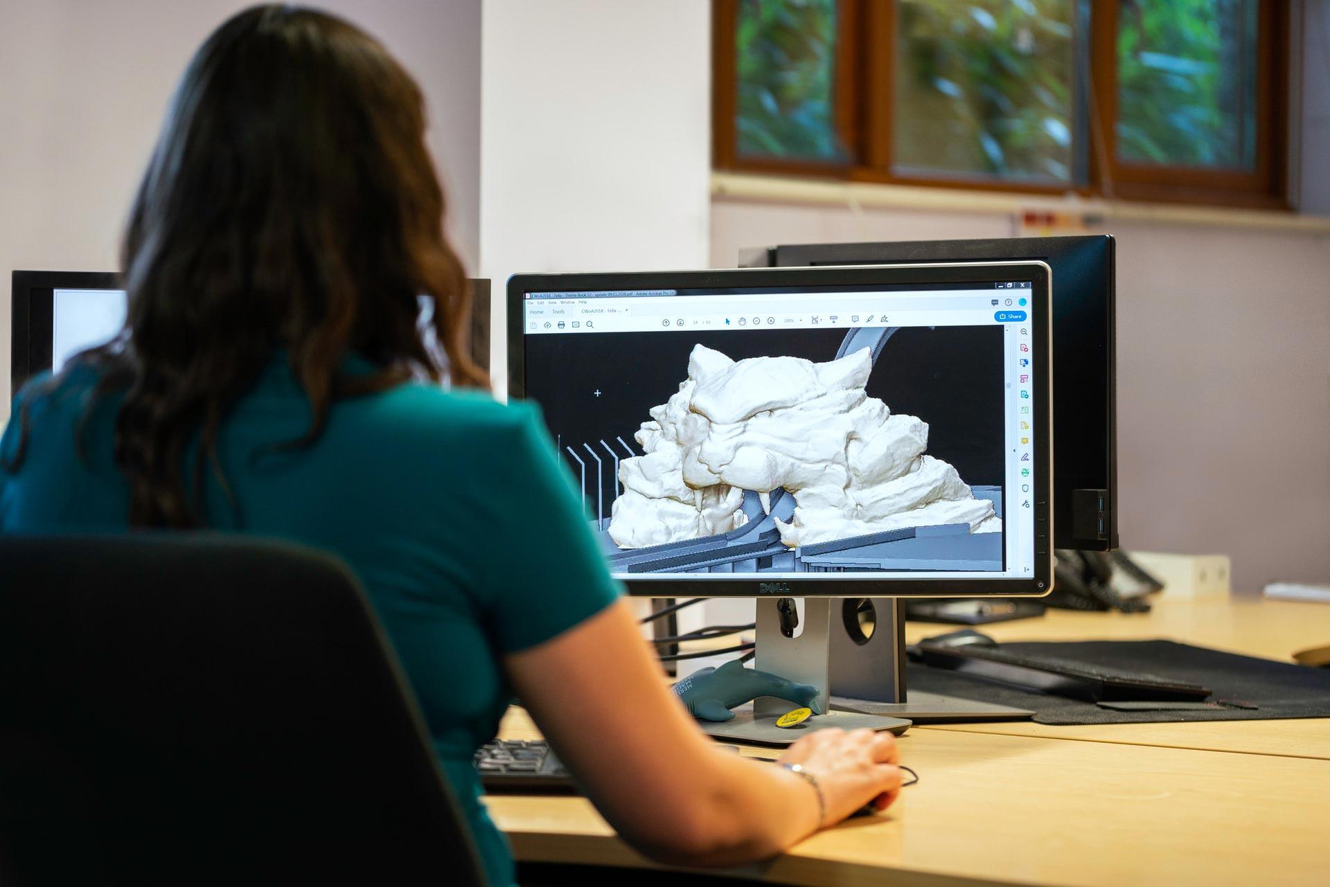 3D Artist Working