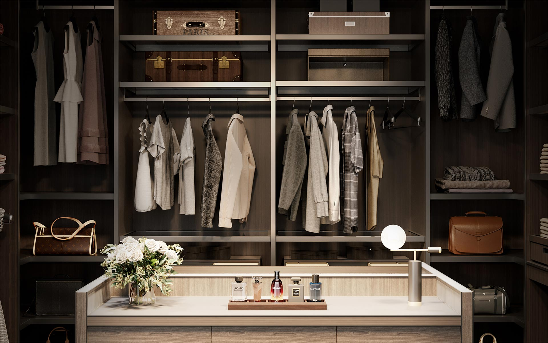 Bakare Wardrobe Interior Product Render
