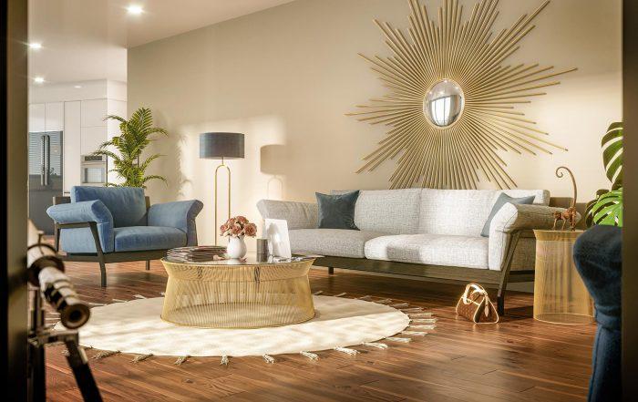 Interior Rendering of apartment