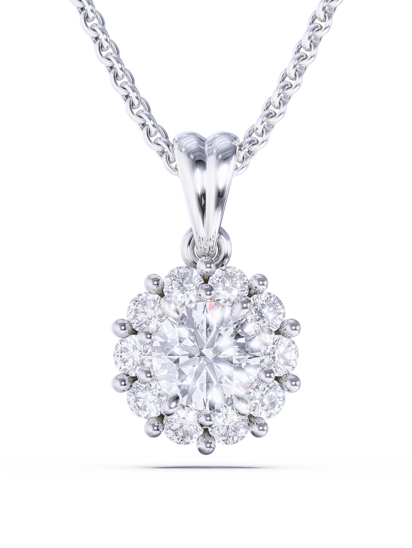 Pendant Silver Diamond