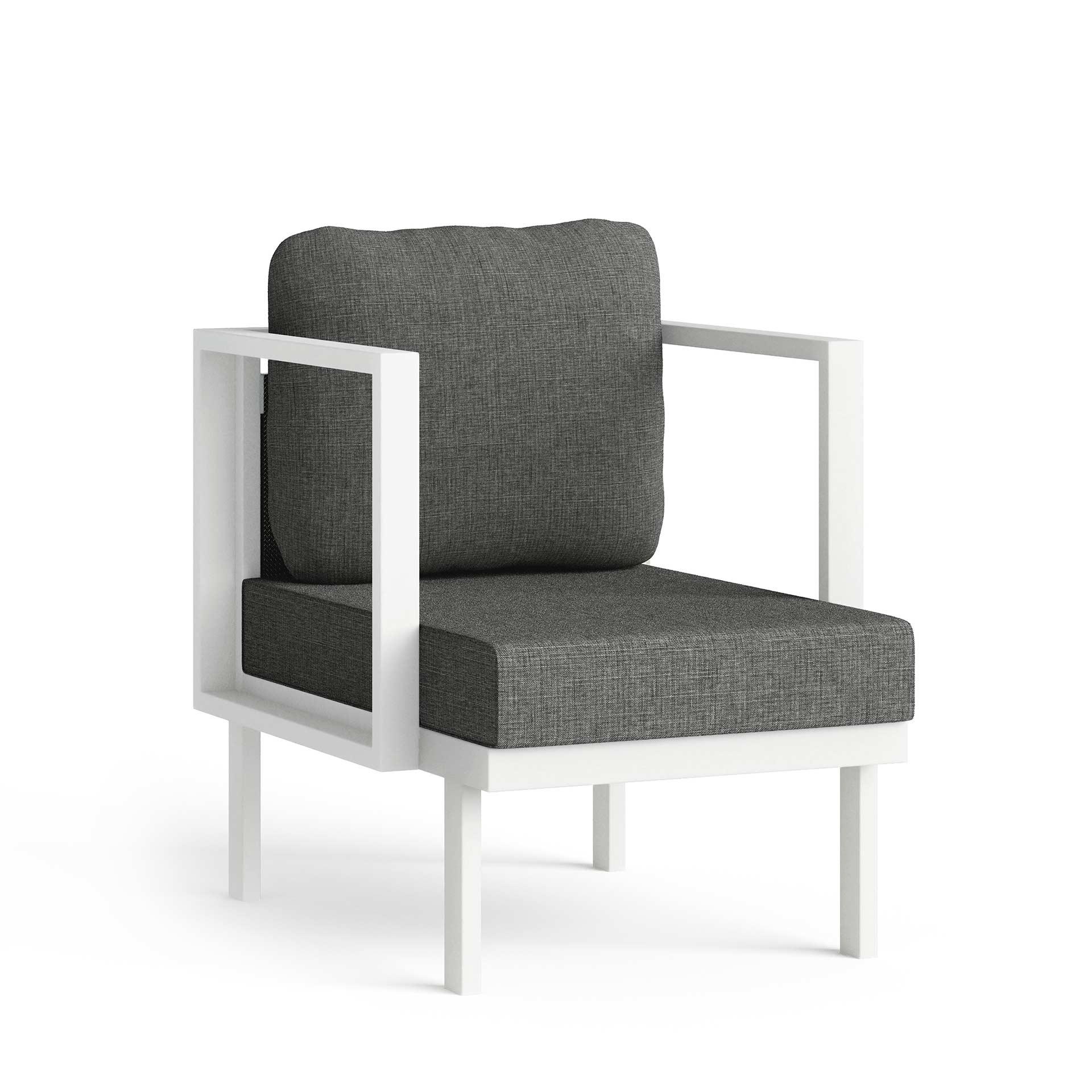 Maureen Chair Corner View Render Dark Grey