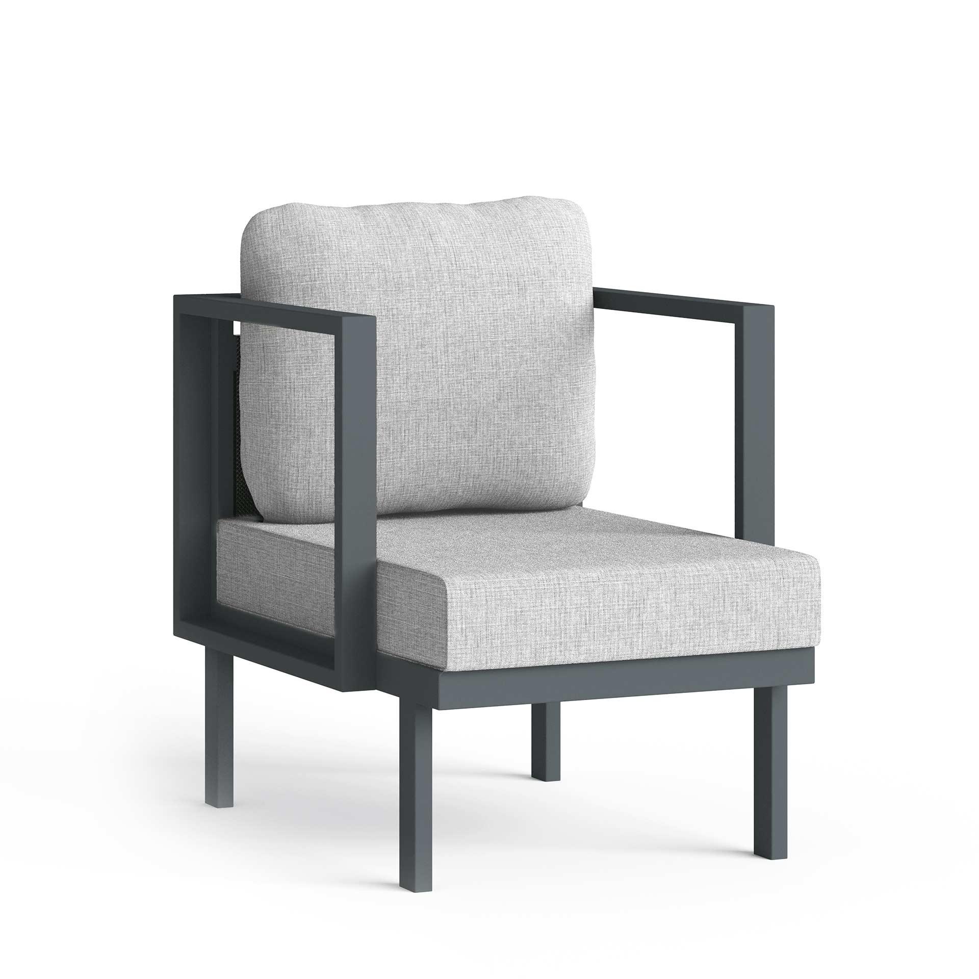 Maureen Chair Corner View Render Light Grey