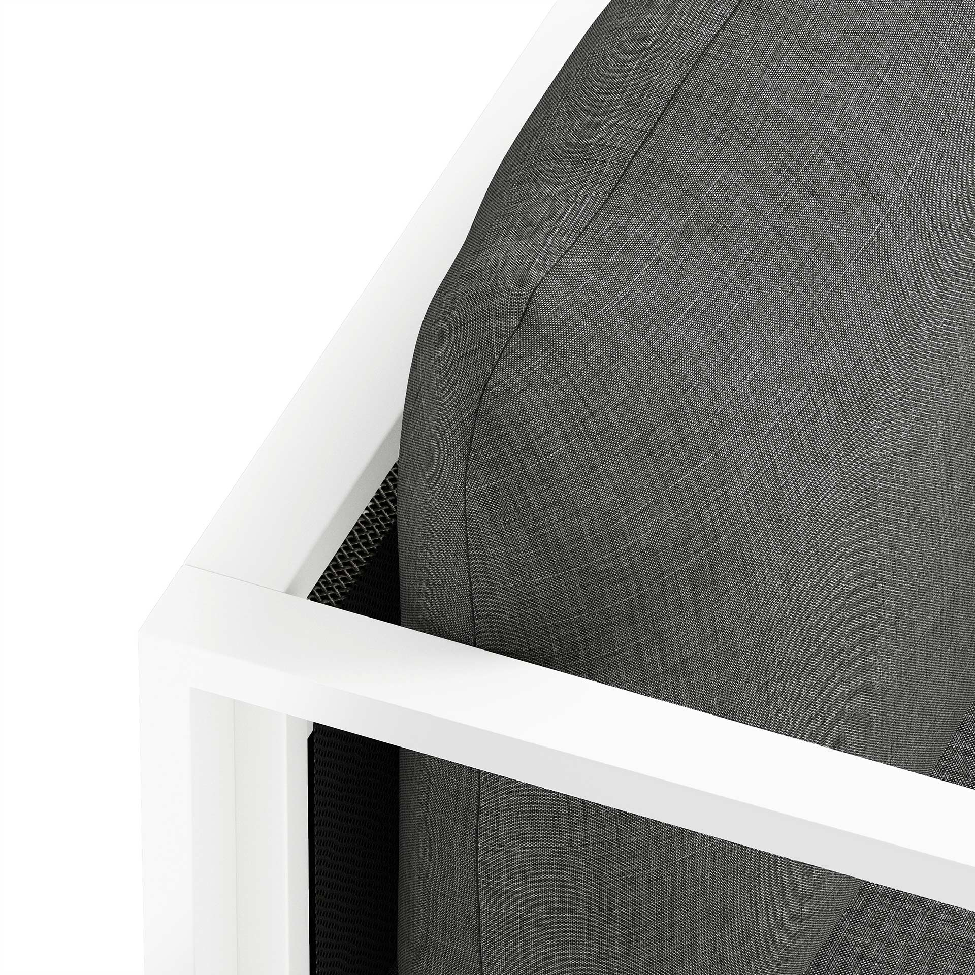 Maureen Furniture CGI Close Up Rendering Dark Grey