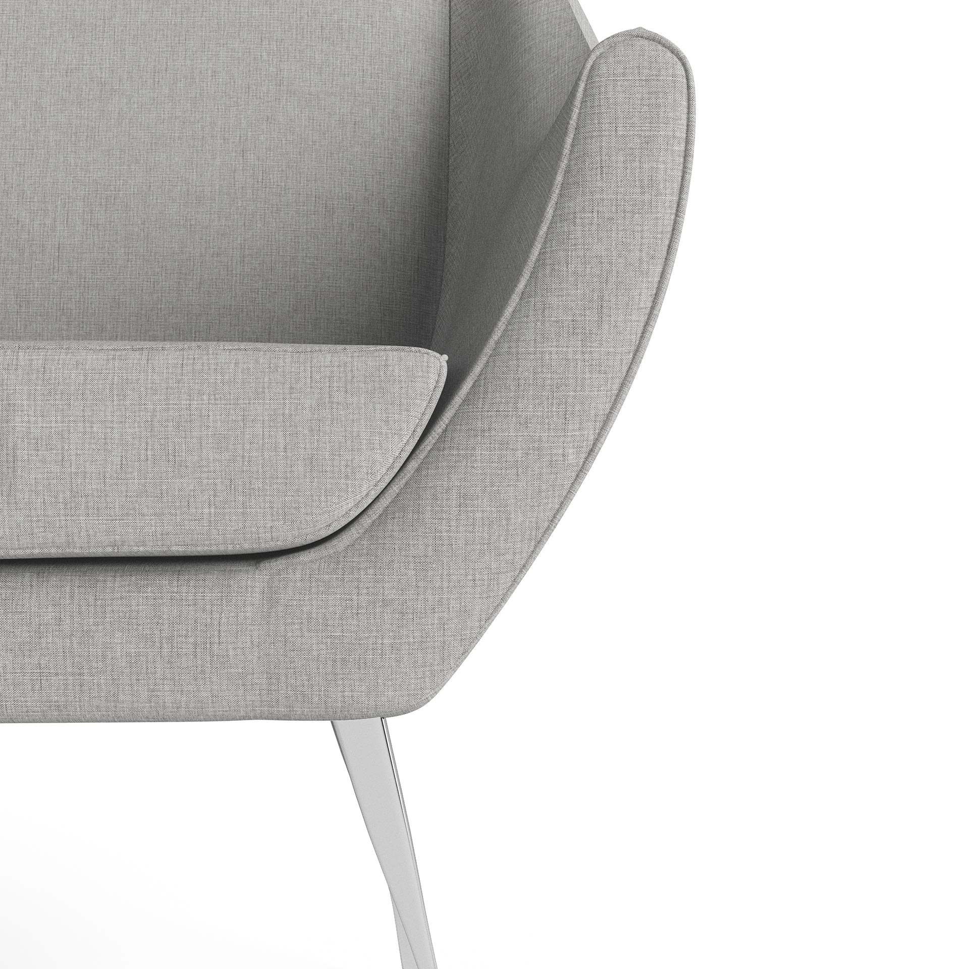 Rita Furniture Close Up Rendering Light Grey