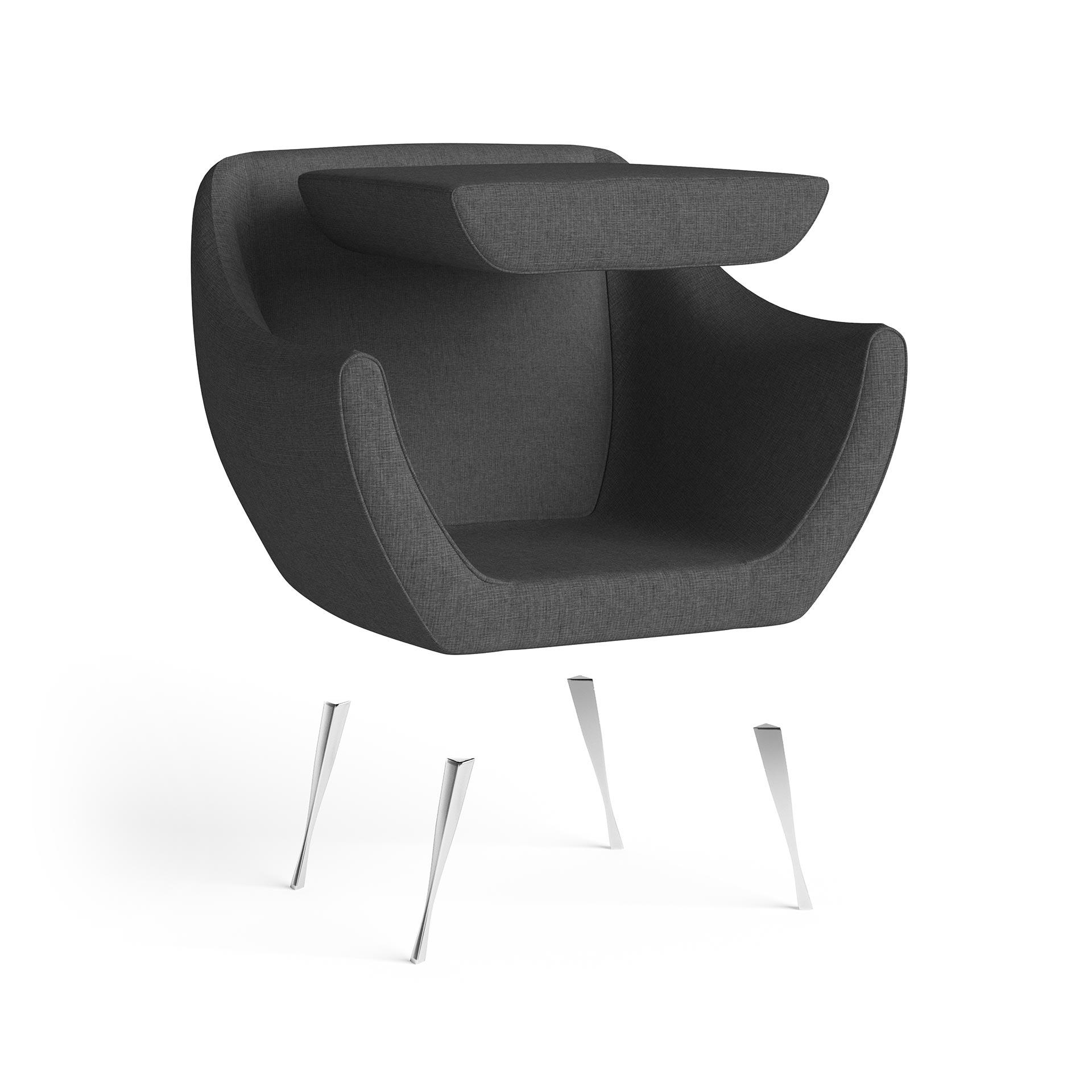 Rita Furniture Exploded Rendering Dark Grey