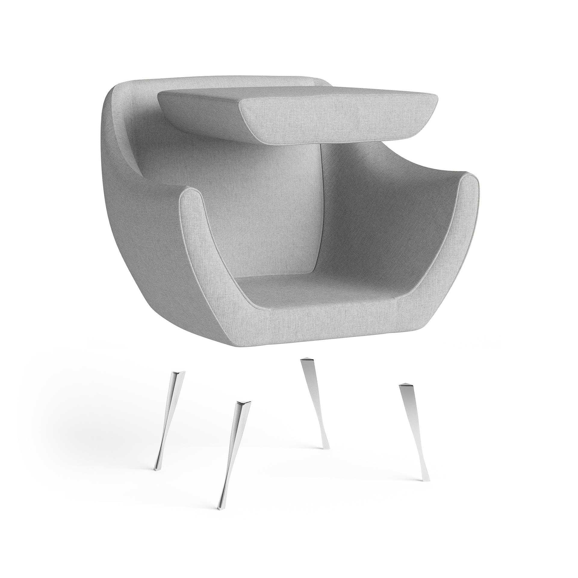 Rita Furniture Exploded Rendering Light Grey