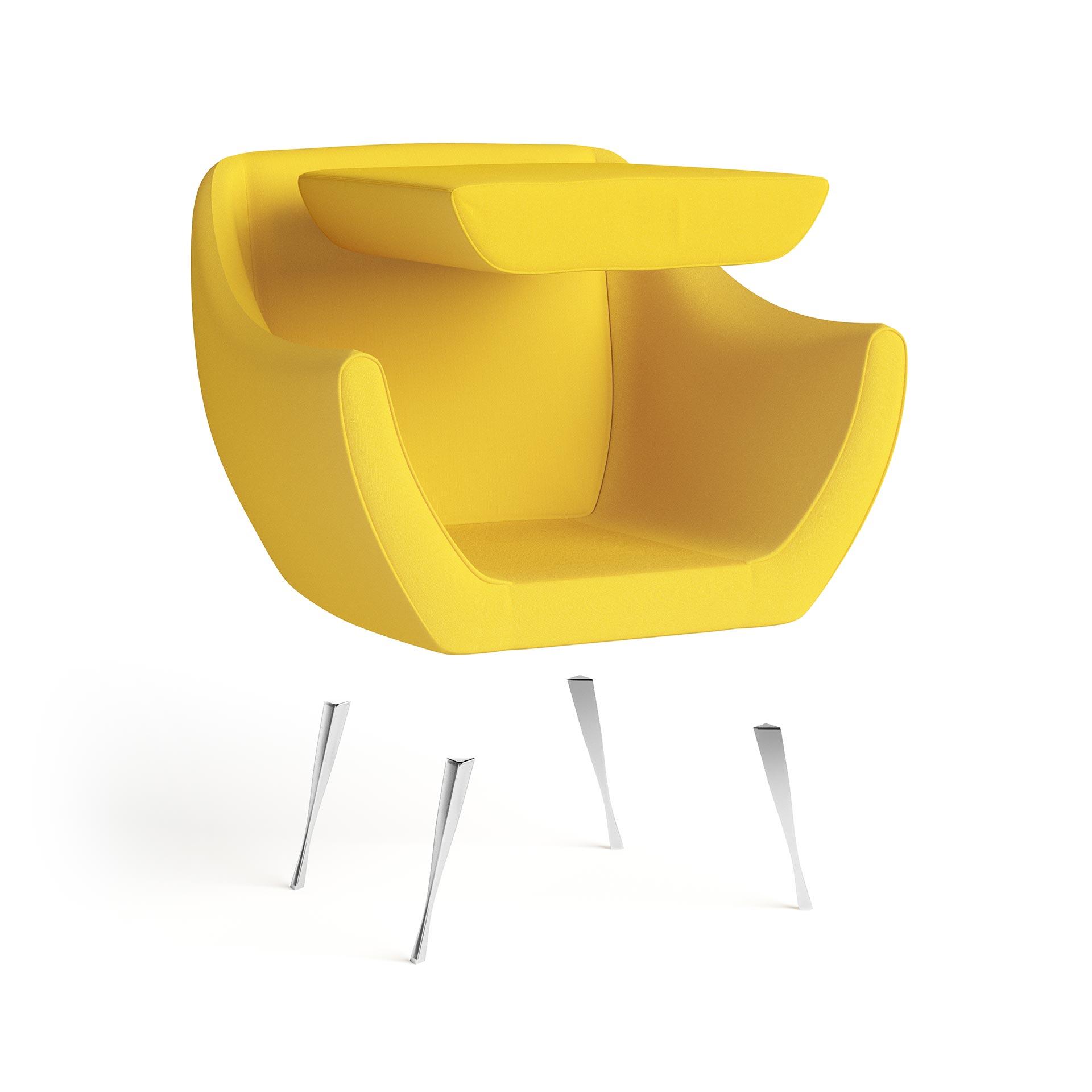 Rita Furniture Exploded Rendering Yellow