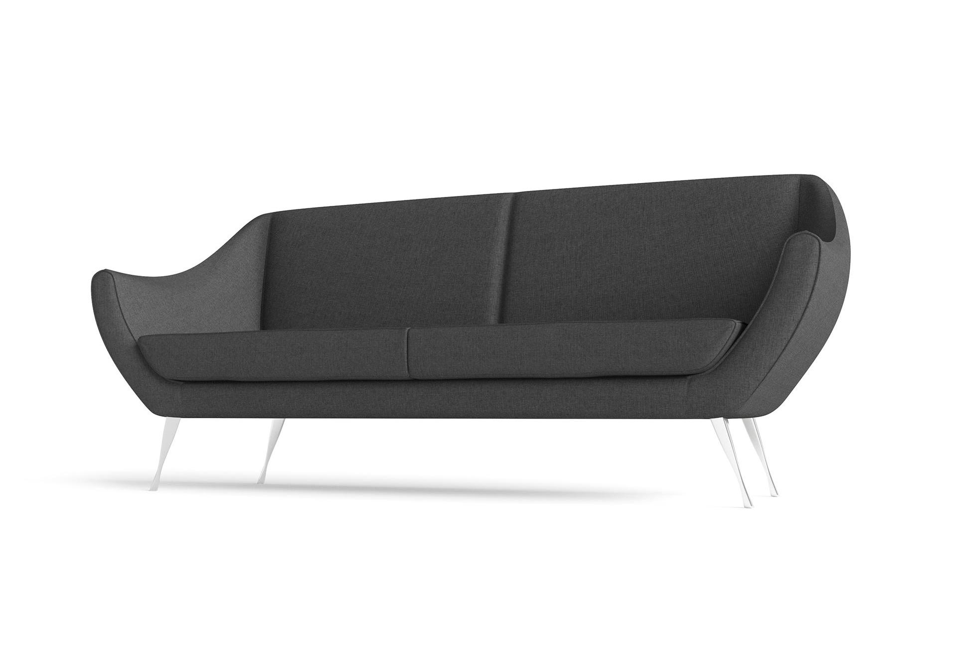 Rita Large Sofa Hero Furniture Rendering Dark Grey