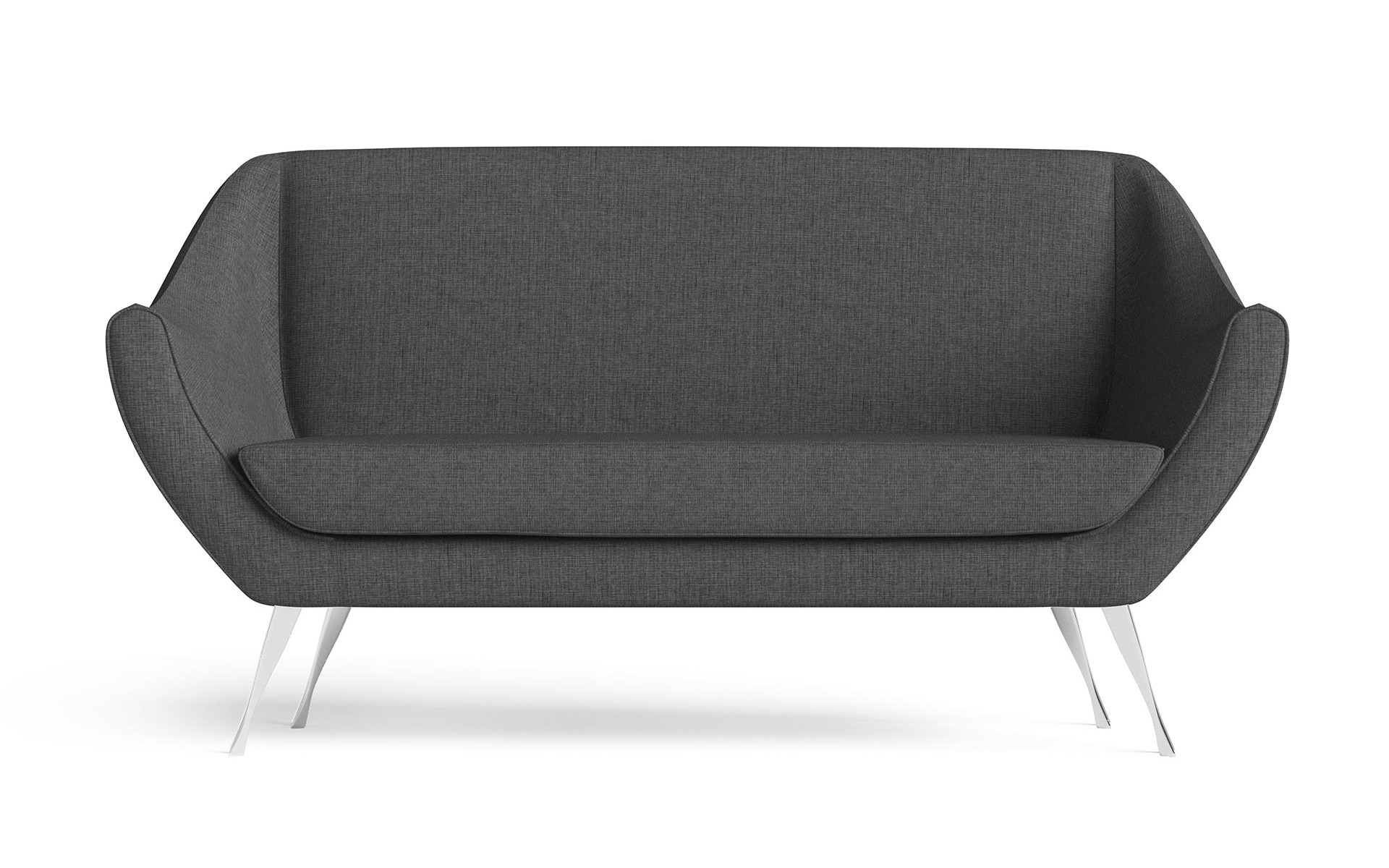 Rita Small Sofa Front Furniture CGI Dark Grey