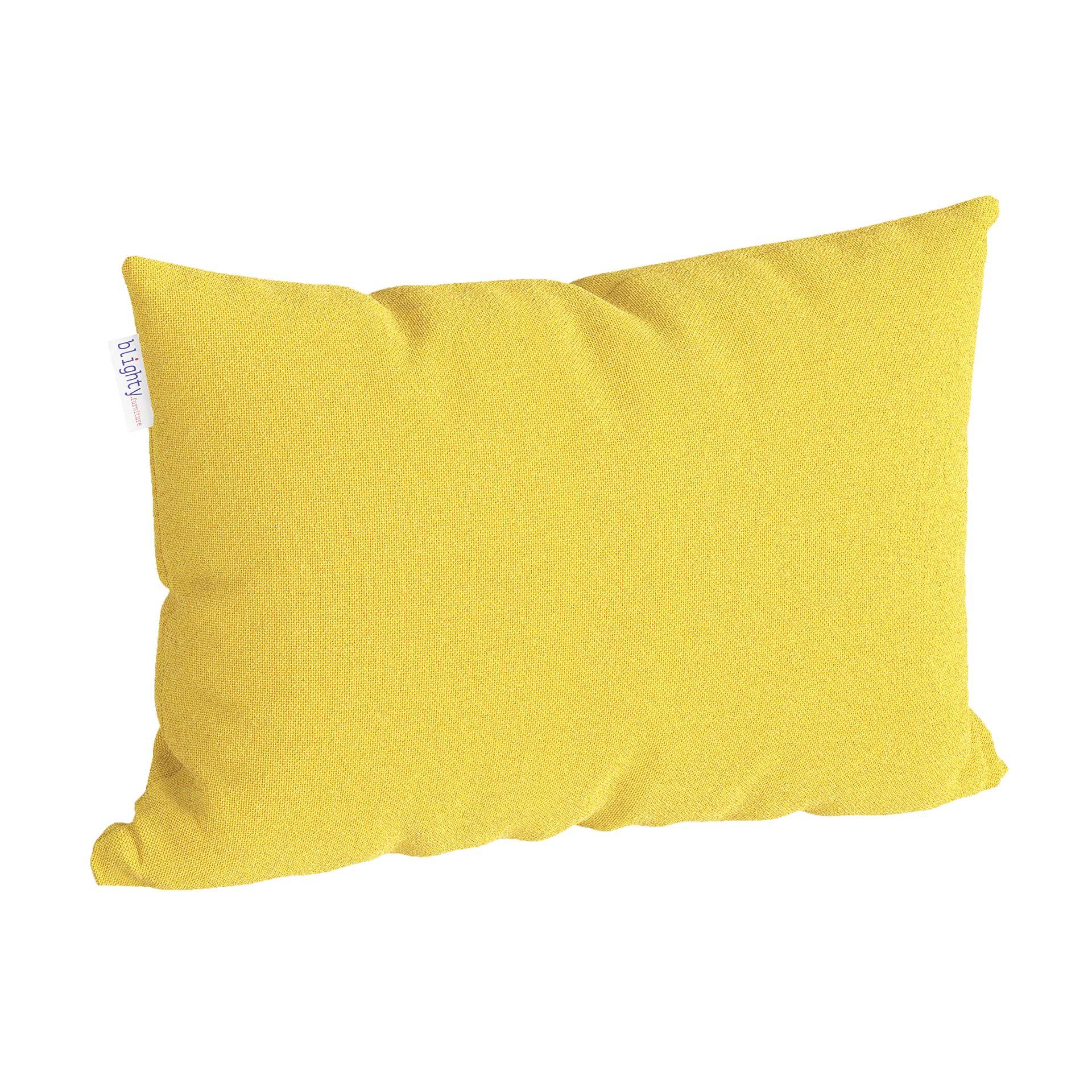 Scatter Pillow Corner Render Yellow