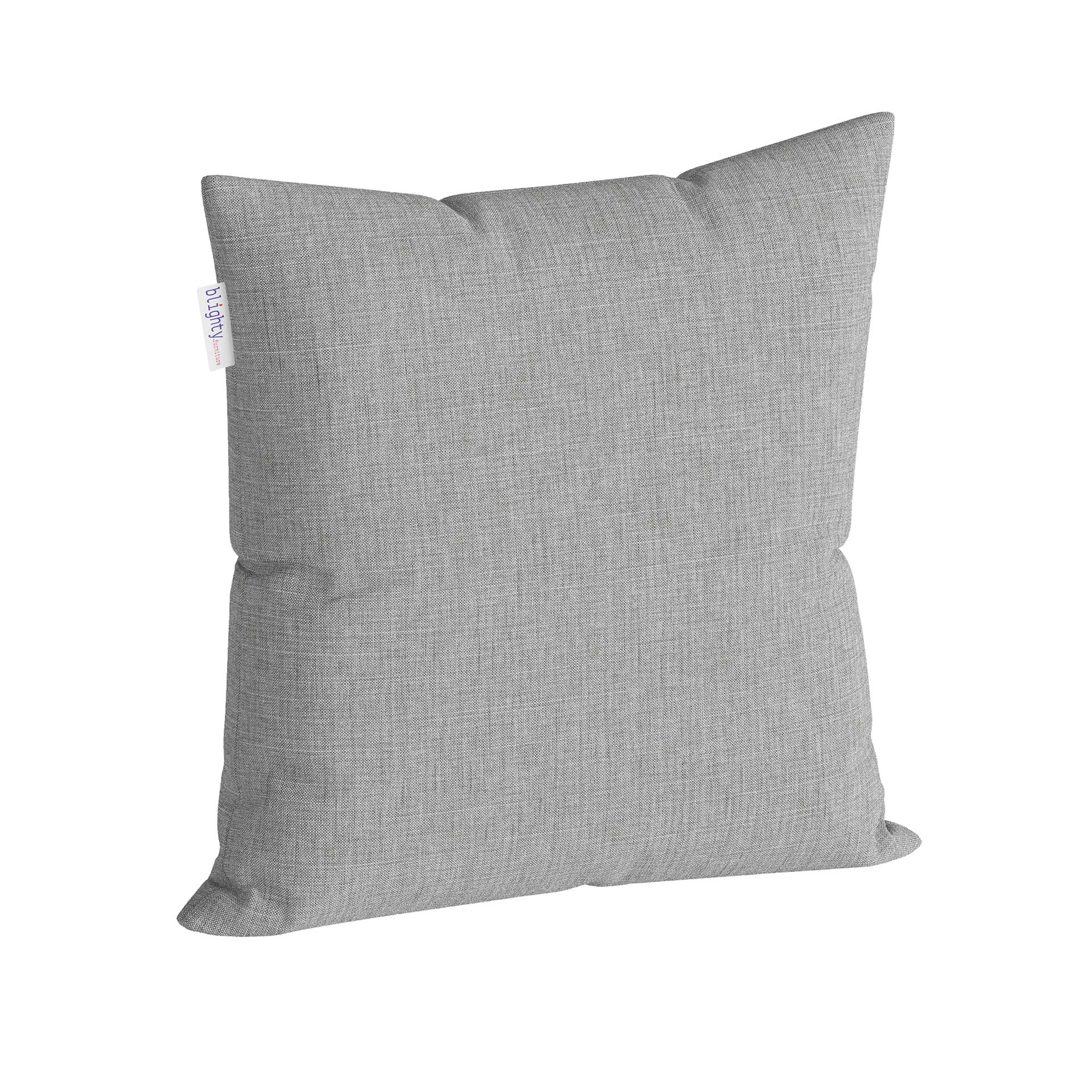 Scatter Square Pillow Corner View Light Grey