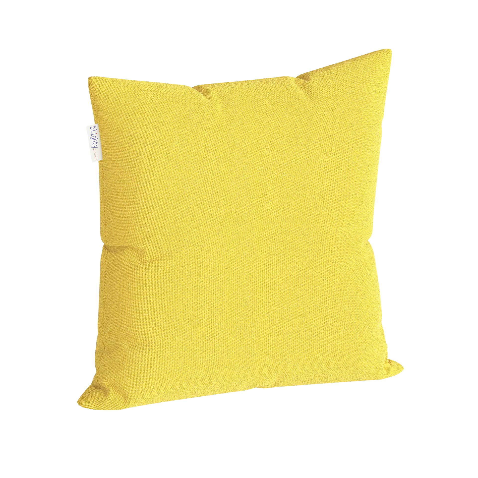 Scatter Square Pillow Corner View Yellow