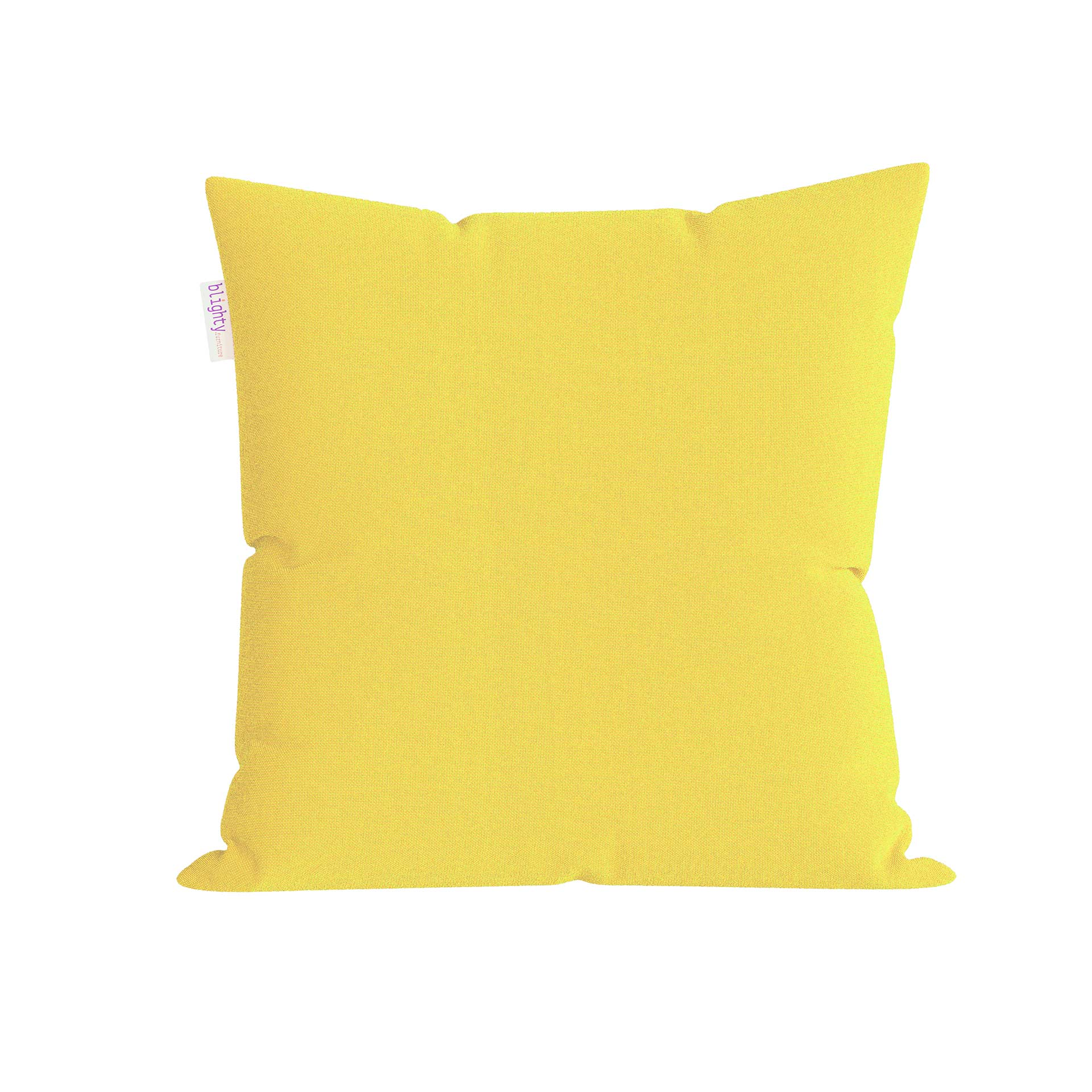 Scatter Square Pillow Front View Yellow