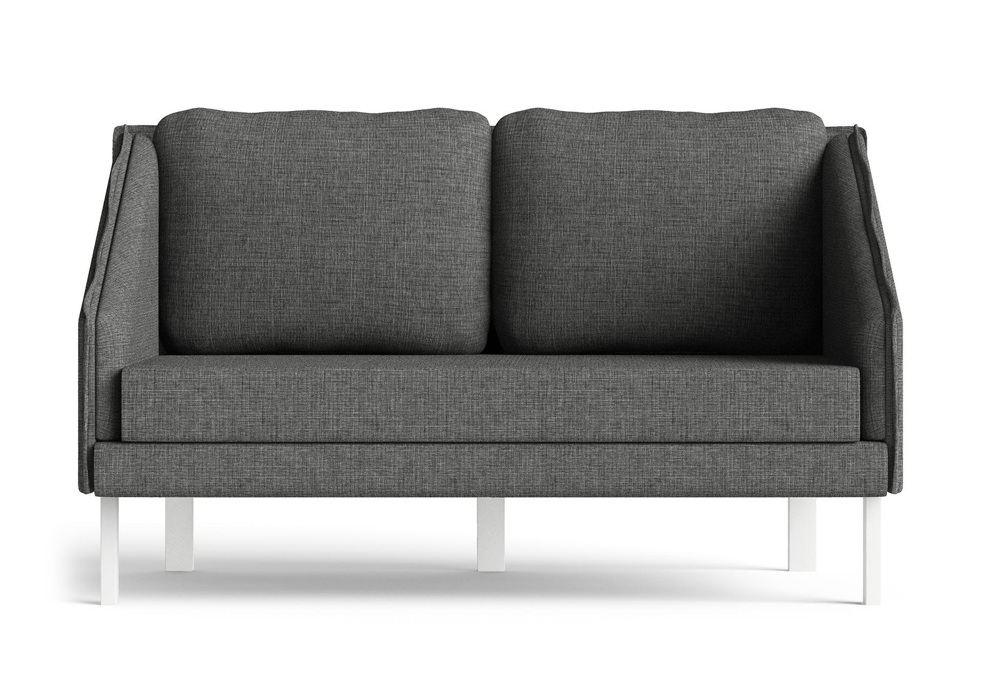 Tracey Small Sofa Furniture CGI Front View Dark Grey