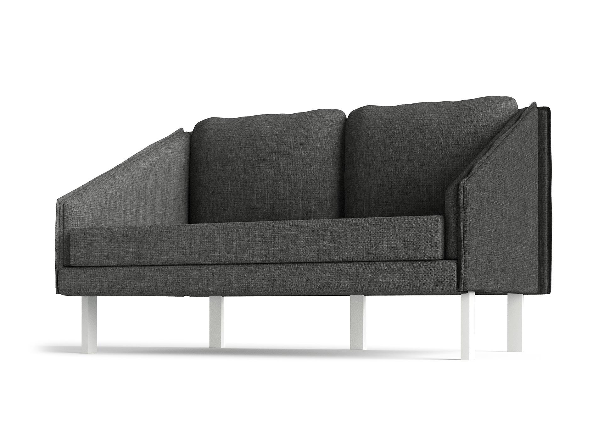 Tracey Small Sofa Furniture CGI Hero View Dark Grey