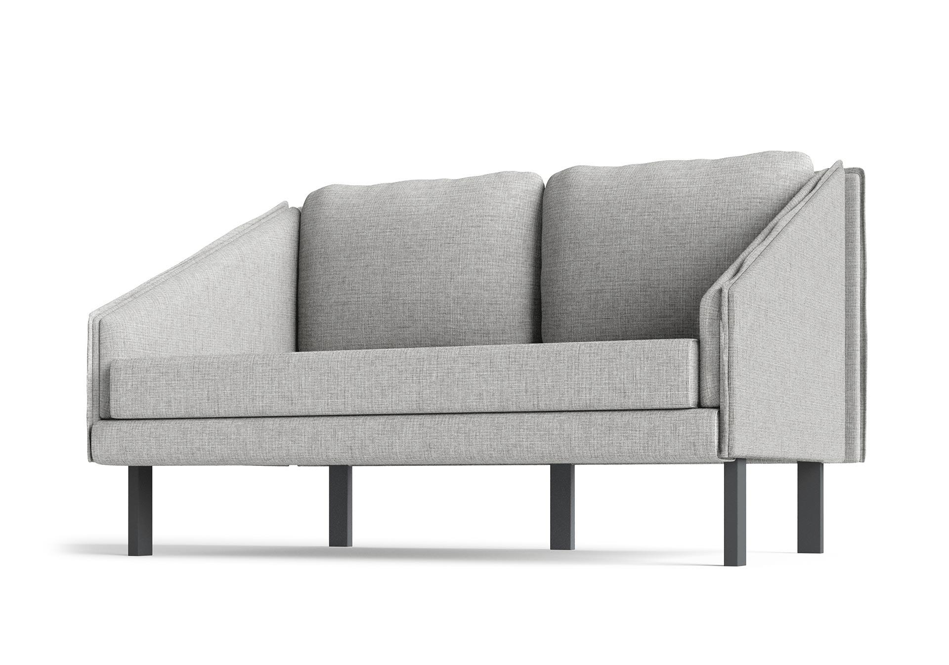 Tracey Small Sofa Furniture CGI Hero View Light Grey